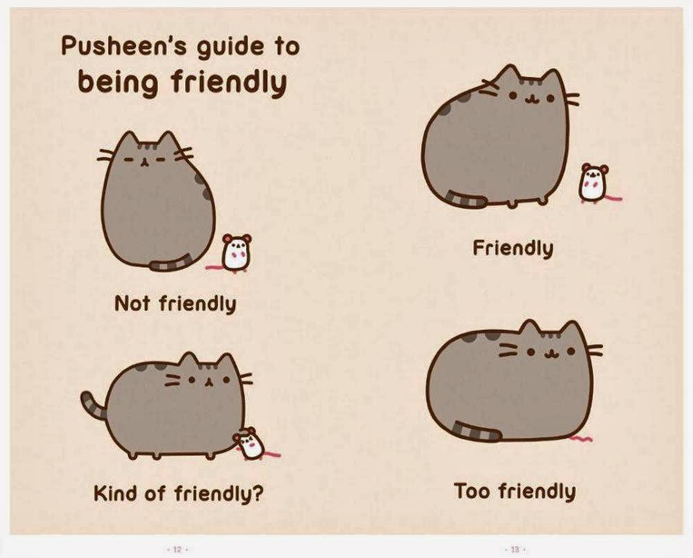 Pusheen Being friendly